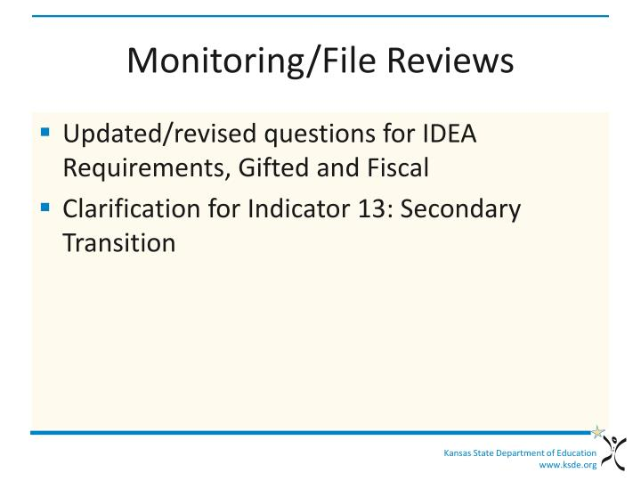 Monitoring/File Reviews
