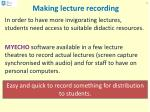 making lecture recording