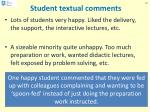 student textual comments