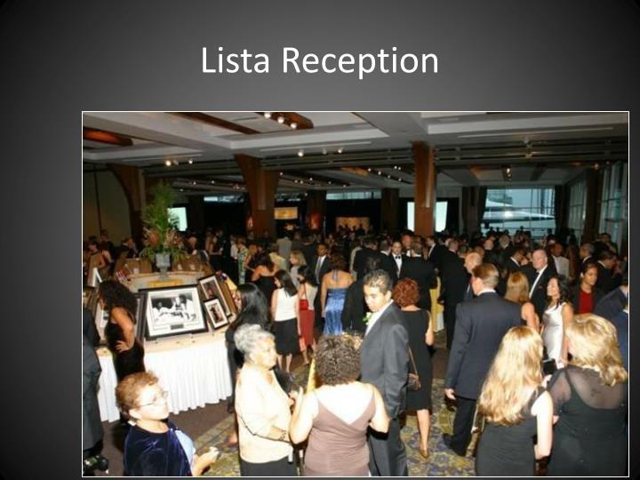 Lista reception