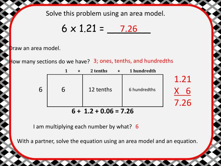Solve this problem using an area model.