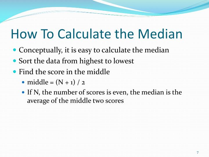 How To Calculate the Median