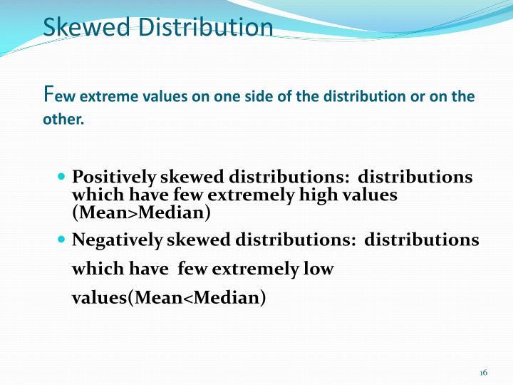 Skewed Distribution