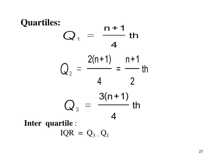 Quartiles: