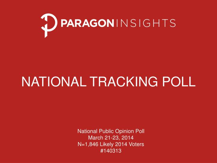 national tracking poll n.