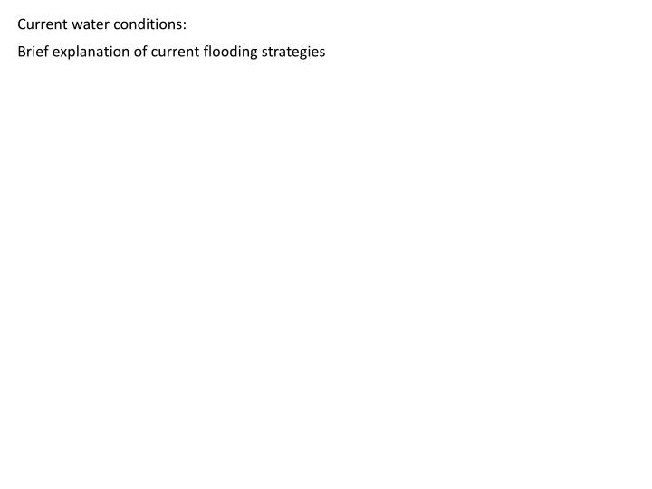 Current water conditions:
