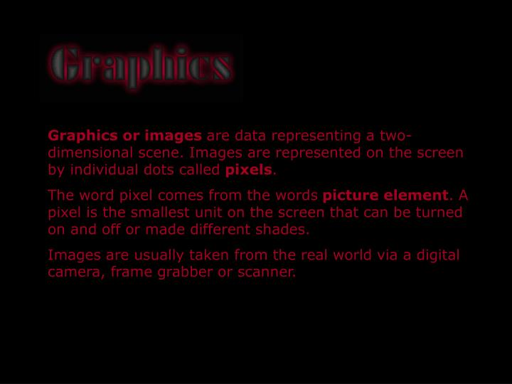 Graphics or images
