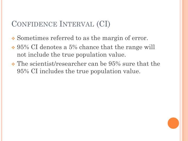 Confidence Interval (CI)