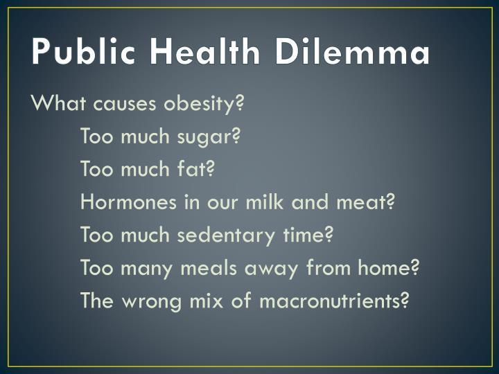 Public health dilemma