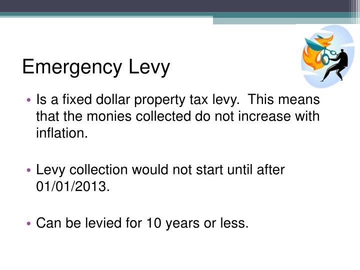 Emergency Levy