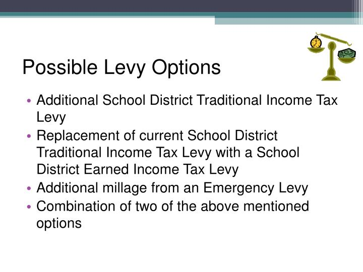Possible Levy Options