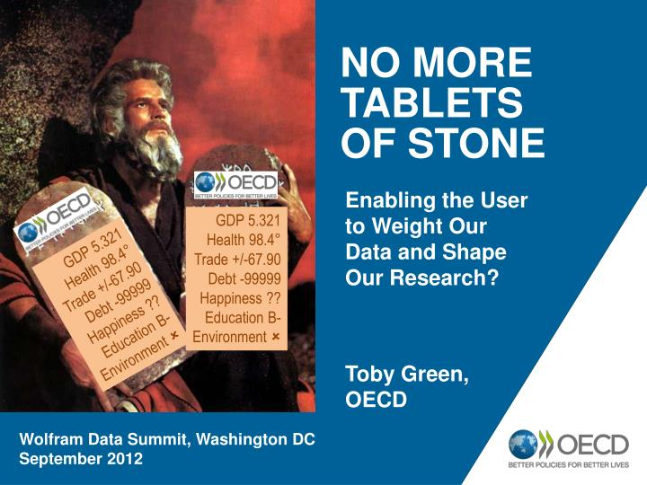No more tablets of stone