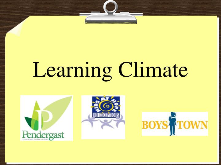 learning climate