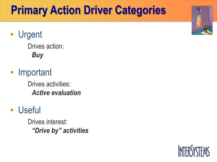 Primary Action Driver Categories