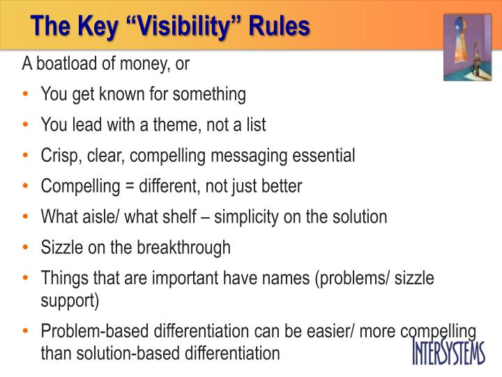 "The Key ""Visibility"" Rules"