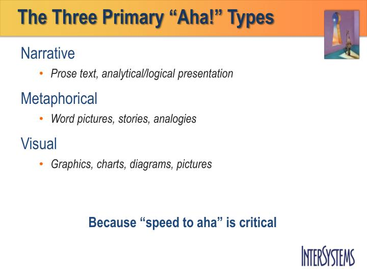 "The Three Primary ""Aha!"" Types"