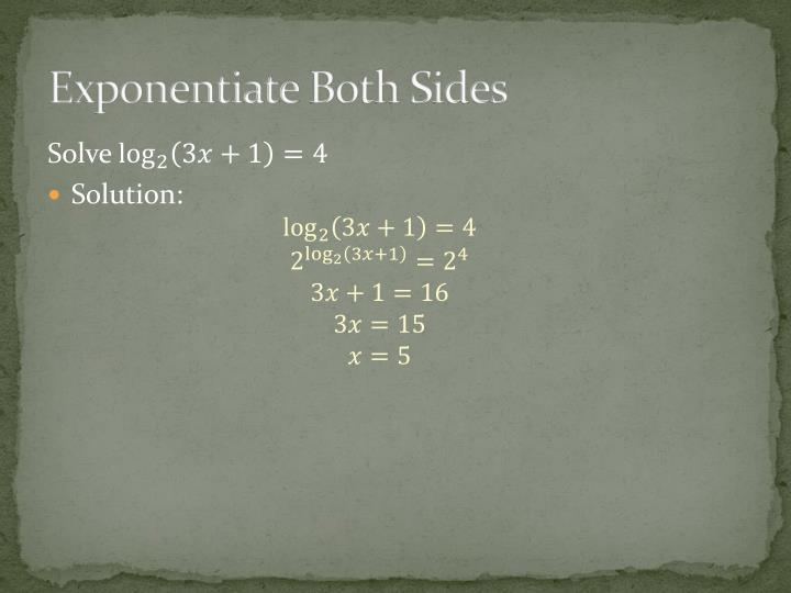 Exponentiate