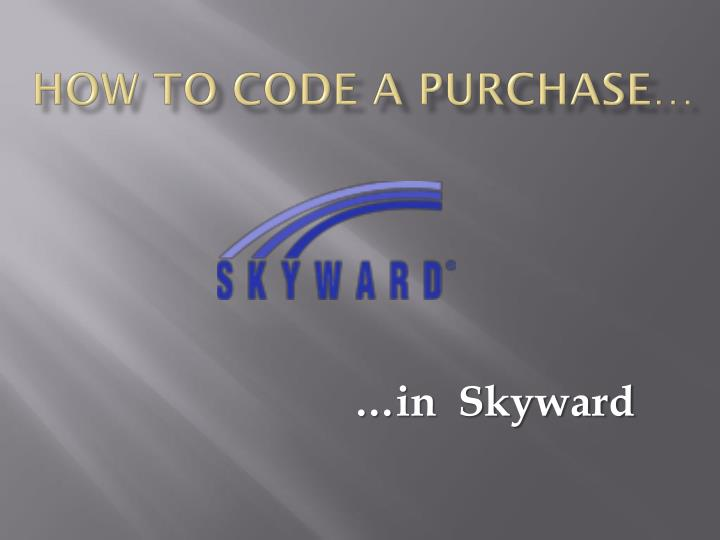 How to code a purchase