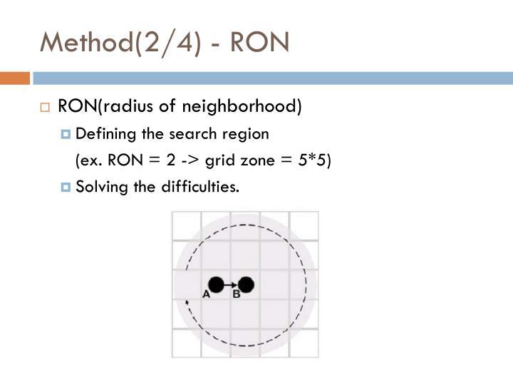 Method(2/4) - RON