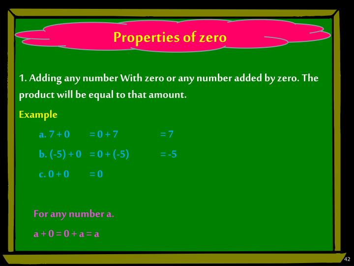 Properties of zero