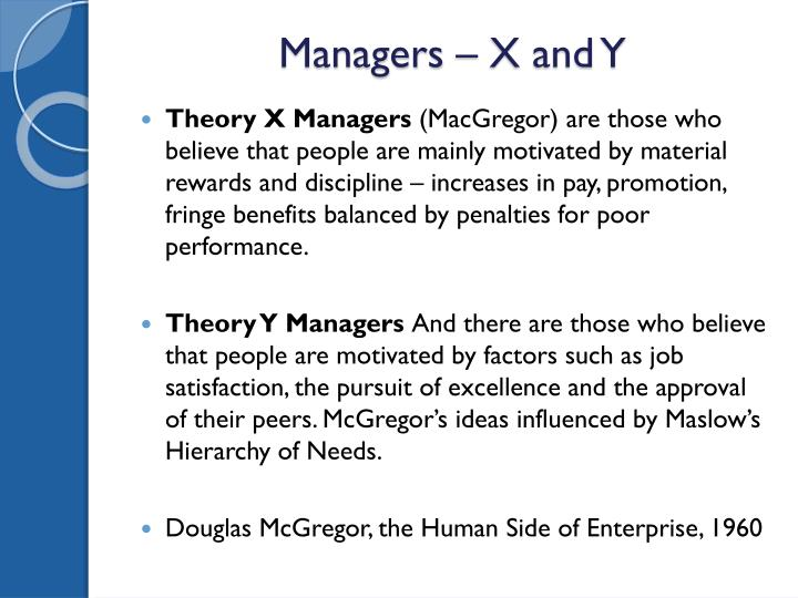 Managers – X and Y
