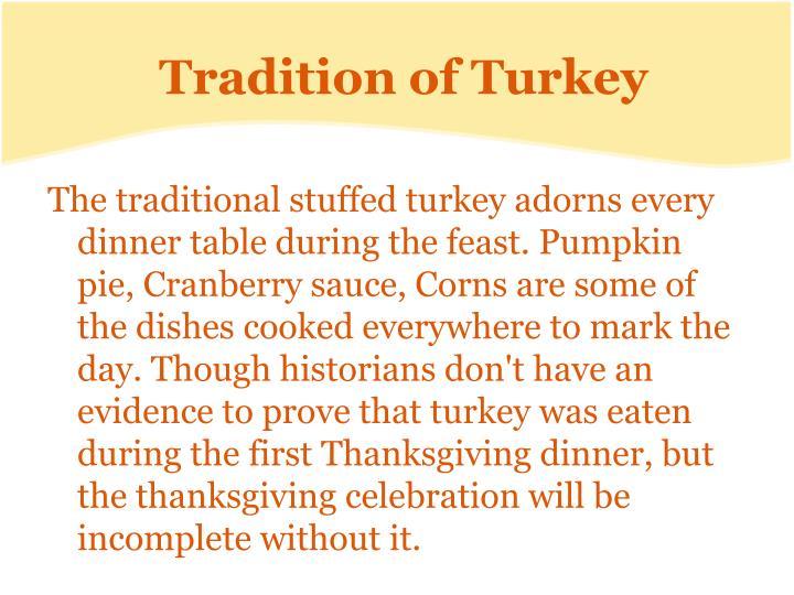 Tradition of Turkey
