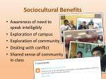 sociocultural benefits