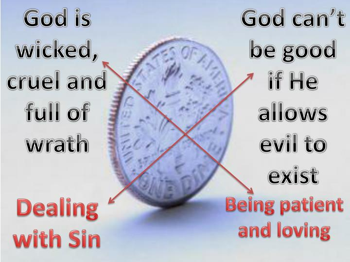God is wicked, cruel and full of wrath