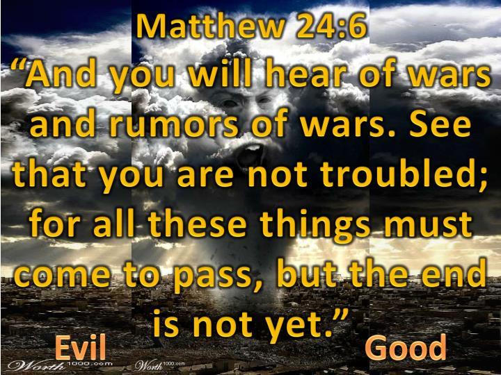 Matthew 24:6