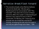 narrative break flash forward