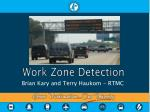 work zone detection
