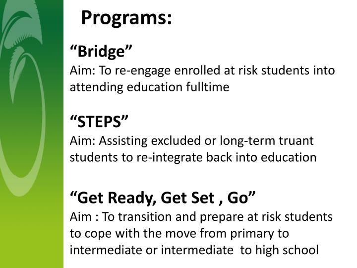 Programs: