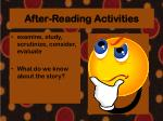 after reading activities