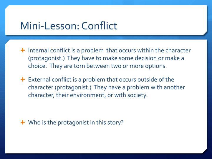 Mini lesson conflict