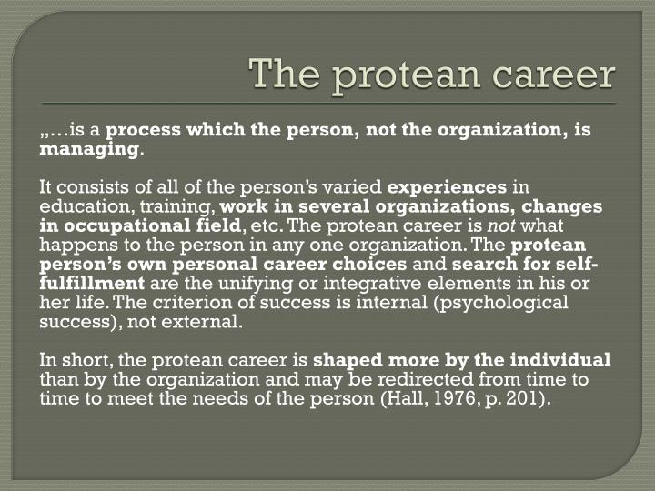 The protean career