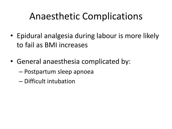 Anaesthetic Complications
