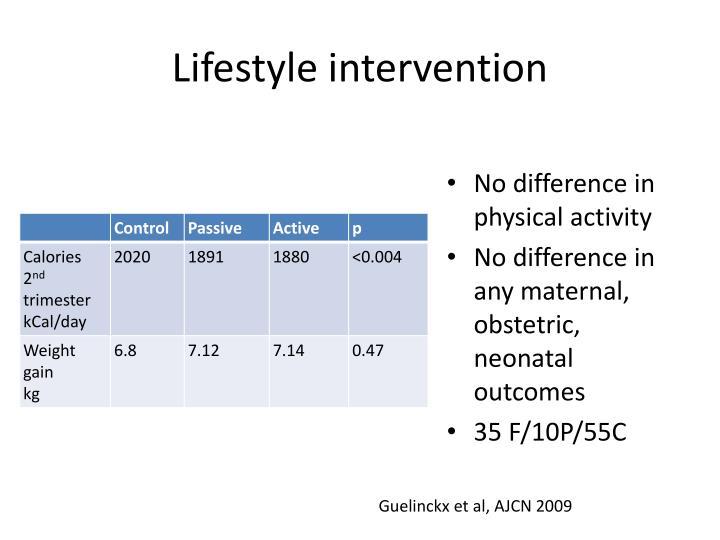 Lifestyle intervention