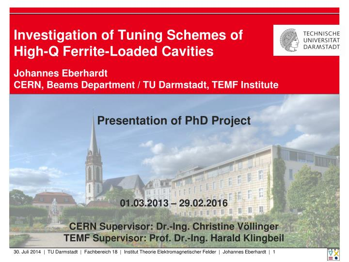 Investigation of tuning schemes of high q ferrite loaded cavities