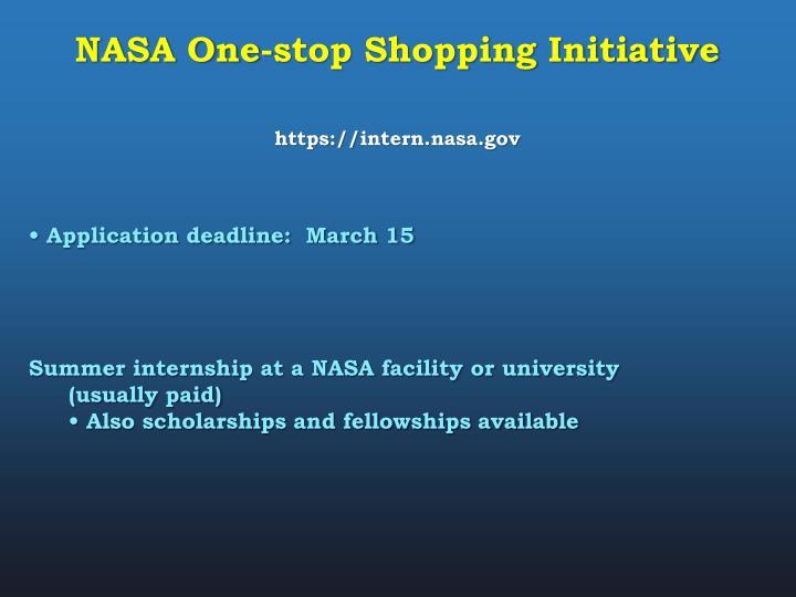 NASA One-stop Shopping Initiative