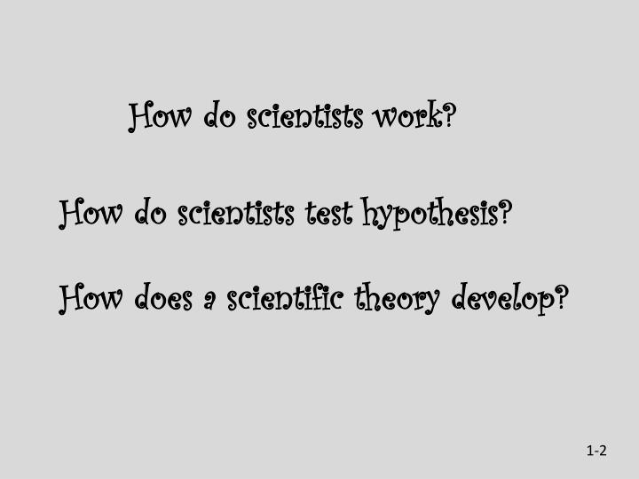 How do scientists work?