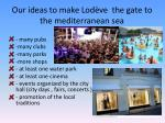 our ideas to make lod ve the gate to the mediterranean sea
