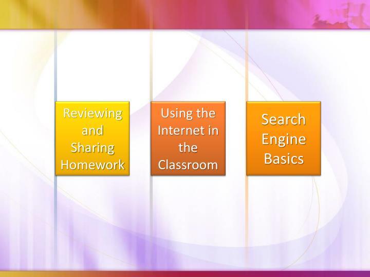 Reviewing and Sharing Homework