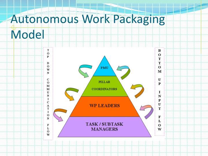 Autonomous Work Packaging Model