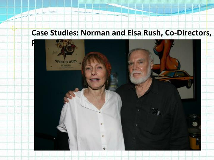 Case Studies: Norman and Elsa Rush, Co-Directors, Peace Corps Botswana, 1978 to 1983