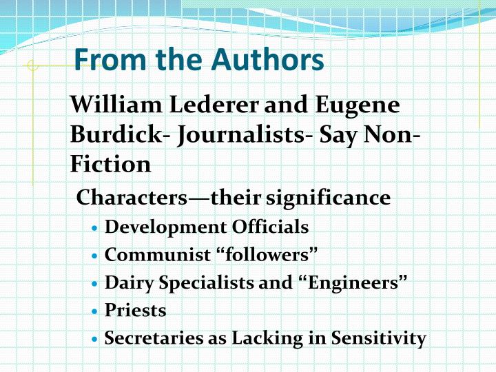 From the Authors