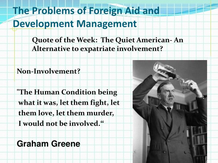 The Problems of Foreign Aid and Development Management