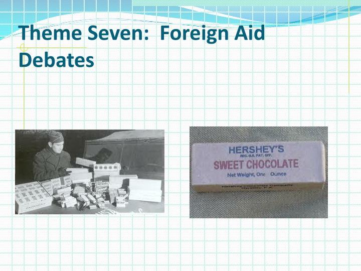 Theme Seven:  Foreign Aid Debates