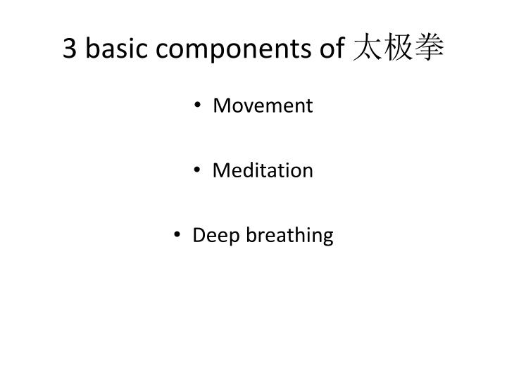 3 basic components of