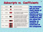 subscripts vs coefficients