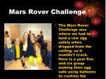 mars rover challenge